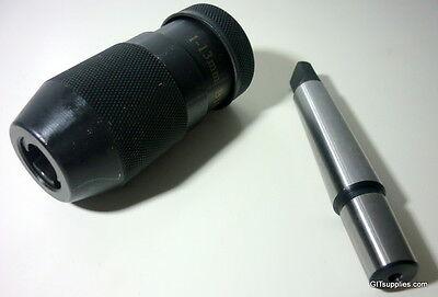 1-13mm B16 Precision KEYLESS Drill Chuck with MT2-B16 Arbor  FAST&FREE POSTAGE!!