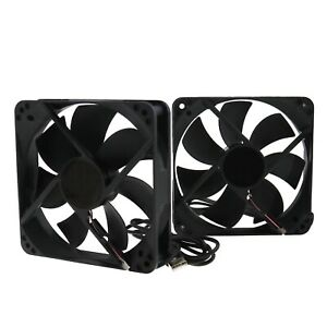 2 Pieces  USB Case Silent Radiator Fan USB Cooling Fans for Computer CPU Cooling