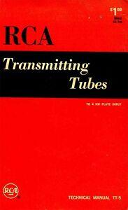 RCA TRANSMITTING TUBES TECHNICAL MANUAL TT-5 1962 PDF
