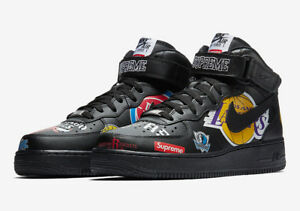 Details about Nike Air Force 1 Mid '07 Supreme Black AQ8017 001 Sneakers Shoes Men Size 10.5