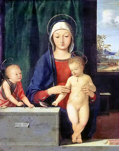 Oil-painting-Andrea-Solario-virgin-and-child-St-John-the-Baptist-with-birds