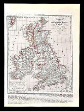 1849 Houze Map Great Britain 1603-1849 England Ireland Scotland London Dublin