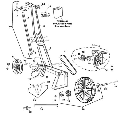Handsägerät Saatscheiben,Handsämaschine Earthway, Sämaschine Dippelmaschine