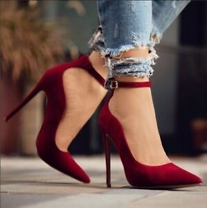 Womens-High-Heels-Sandals-Pointed-Toe-Strappy-Pumps-Summer-Casual-Stiletto-Shoes