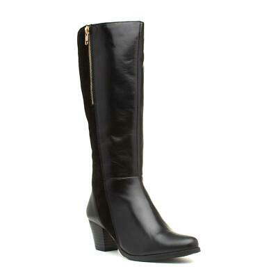 Comfort Plus Becky Black Leather Wide