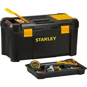 """Stanley 19"""" Inch Lockable Compartmets Removable Tray Storage Organiser Tool Box"""