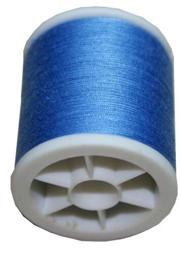 1020 Obergarn Nähmaschinennähgarn Baumwolle 100m 50//3 blau bleu