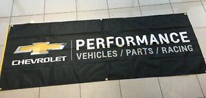 CHEVROLET-Performance-3-039-x-8-039-Black-Chevy-Banner-Camaro-Corvette-for-Garage