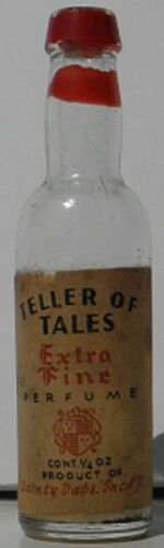 1930 Teller of Tales Extra Fine Perfume Bottle by Dainty Dabs Inc 14 fl. oz.