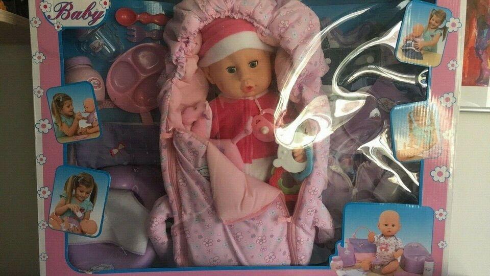 New born baby, SOLGT - DUKKE 40 cm i gaveæske
