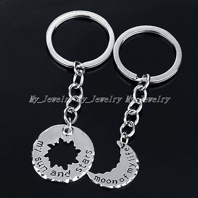 Xmas New Tibetan Silver Tone Family Gifts Friend Keyring Charm Findings Keychain