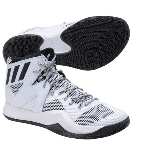 NIB: Adidas Crazy Bounce Basketball Shoes - US White/Black Men's Size 11 - White/Black US b84ba6