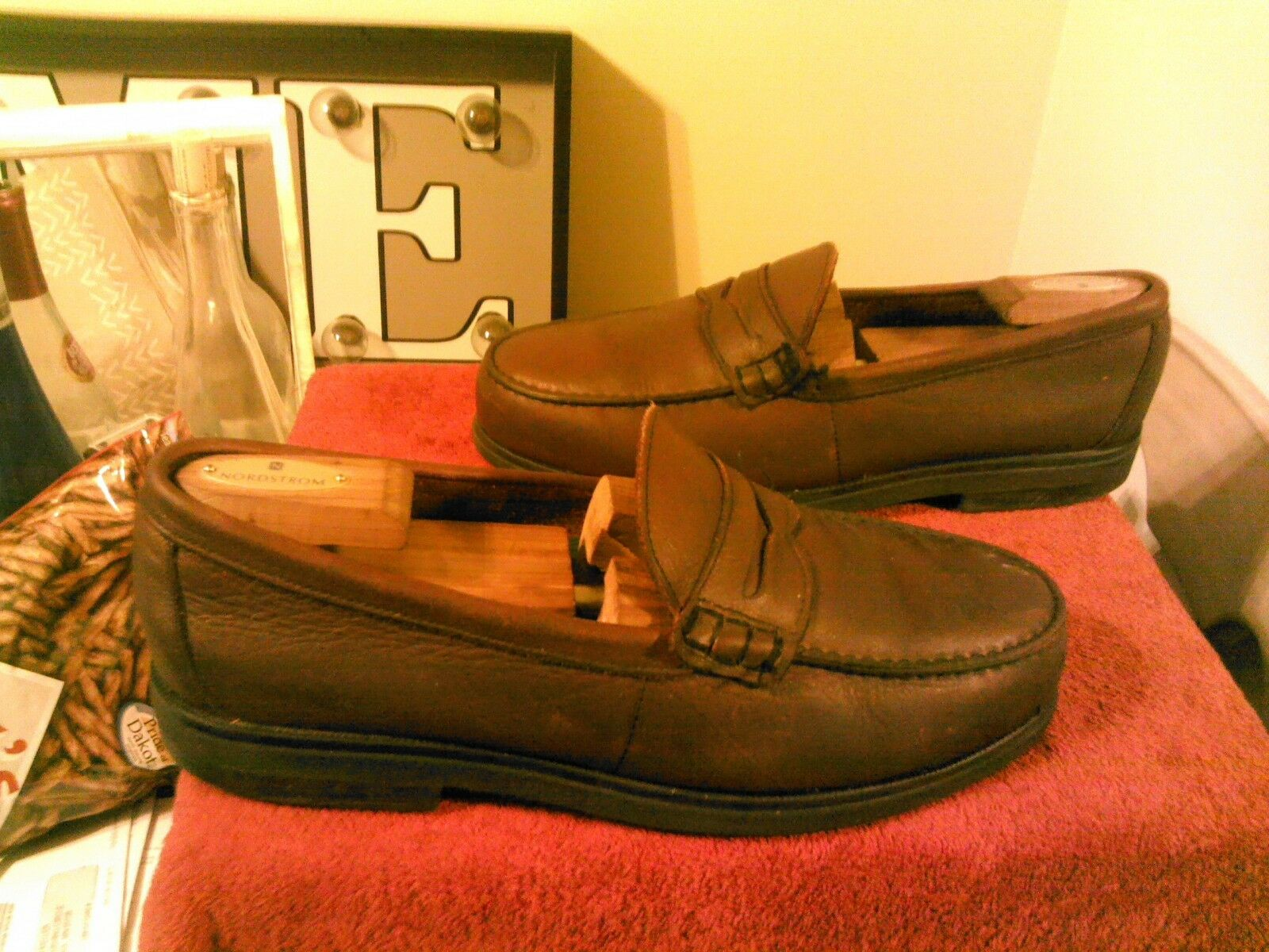 Red Wing Men's Burgundy Steel Toe Penny Loafer, 6605 SD Sz 11.5D USA Made EUC