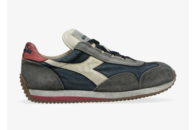 Sneakers scarpe DIADORA HERITAGE EQUIPE sw Dirty Evo Blue Nights Charcoal Gray