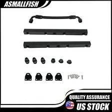 For Ls1 Ls6 8an High Flow Fuel Rails With Fittings Amp Crossover Hose Black Fits Corvette