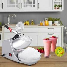 New Electric Ice Crusher Shaver Machine Snow Cone Maker Shaved Ice 143 Lbs
