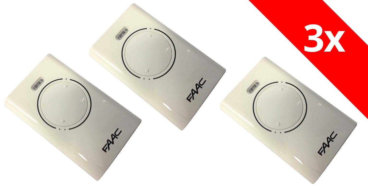 3 FAAC XT2 868 SLH Funk Handsender 2-Befehl 787005 weiss Fernbedienung Sender