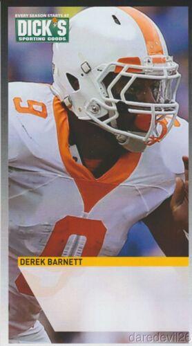 2017 DICK/'S SPORTING GOODS Derek Barnett Tennessee Volunteers Vols Promo Card