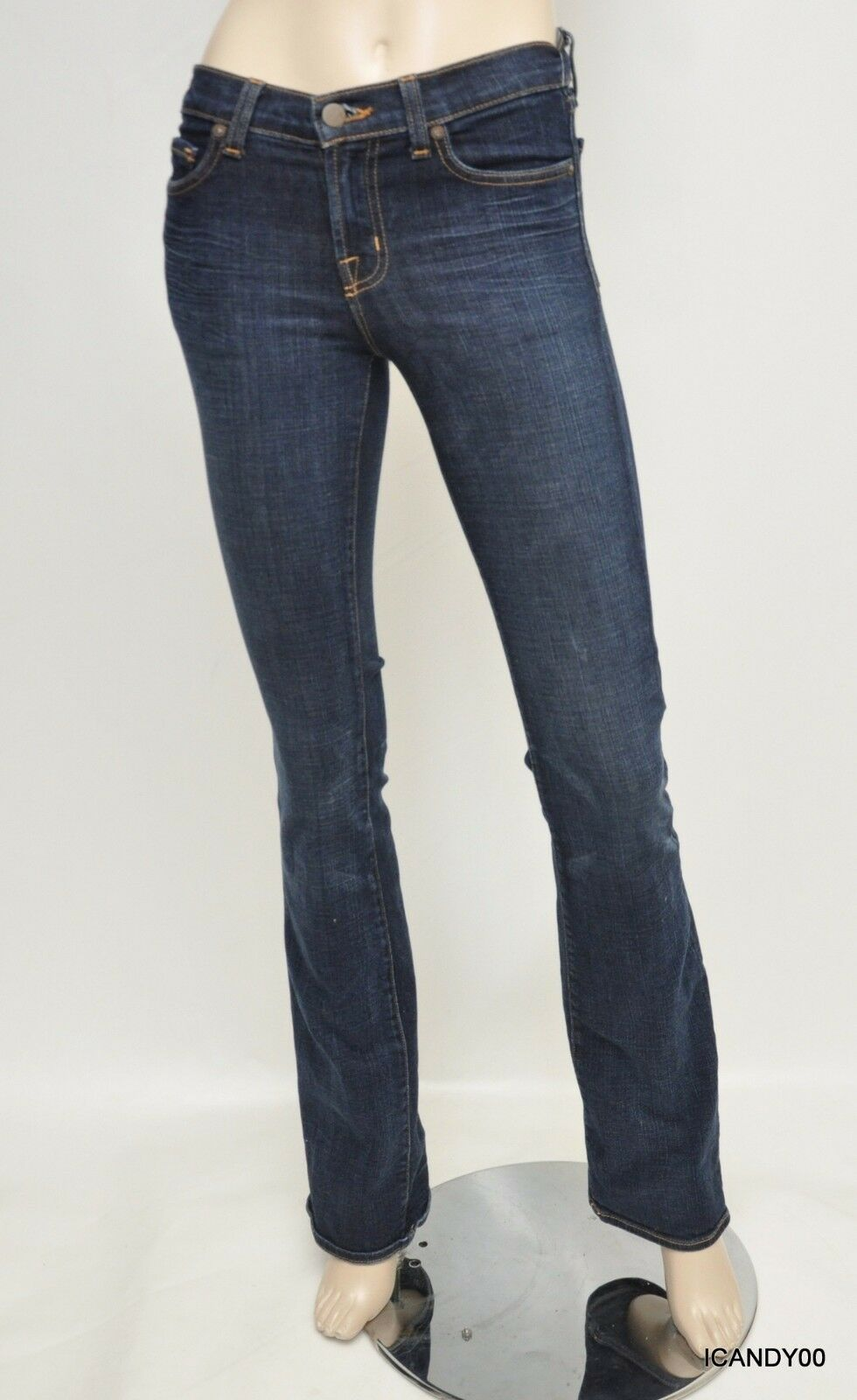 New  209 J Brand 118 Mid-Rise Boot-Cut Stretch Denim Jeans Pants Trousers Cry 25