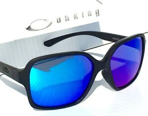 b98850d63d4 NEW  Oakley PROXY Matte Black w Sapphire Blue Iridium Women s ...