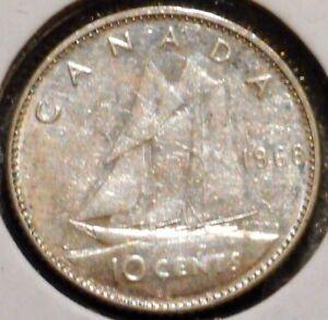 Canada-Dime-1968-Queen-Elizabeth-II-1-Unlimited-Shipping