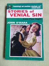 STORIES OF VENIAL SIN FROM PIPE NIGHT - JOHN O'HARA -  USA AVON P/BACK