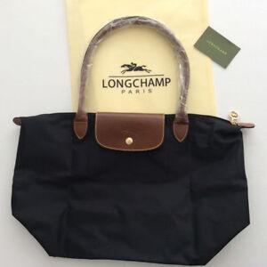 f035e119428 NEW Longchamp Le Pliage tote bag Large Nylon Handbag Black L   eBay