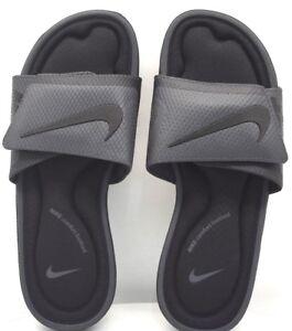 best website 15f5a 941be Image is loading Nike-Solarsoft-Comfort-Slide-Black-Anthracite-US-Size-