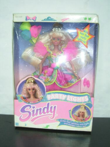 1991 VINTAGE SINDY DOLL PARTY LIGHTS MIB HASBRO RARE