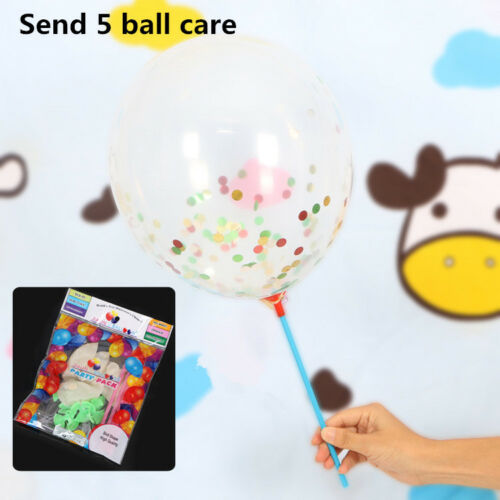 5Pcs12Inch Glitter Latex Confetti Balloons Wedding Decoration DIY Party Supplie