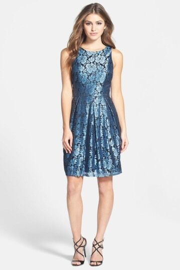 Eliza J Women's bluee Lace Sheath Dress Dress Dress Sz 6  158 c4205b