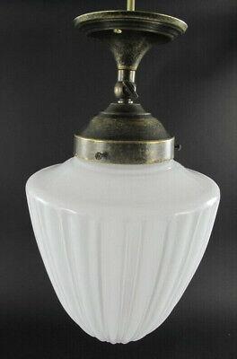 Wandlampe Jugendstil Wandleuchte Antik Messing Lampe Tropfen Glas Art déco