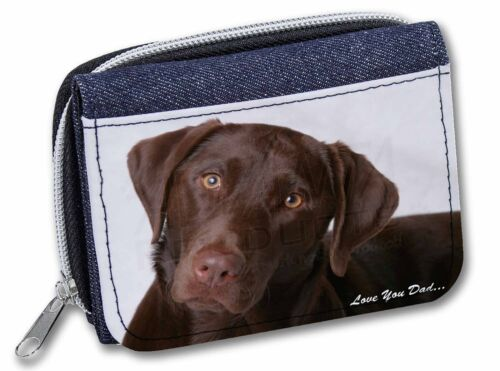 DAD-65JW Labrador /'Love You Dad/' Girls//Ladies Denim Purse Wallet Christmas Gift
