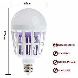 Lampara Mata Insectos Anti Mosquitos Electrico Zapper Para El Hogar USB LED