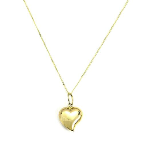 9ct Gold Hollow Puffed Heart Pendant