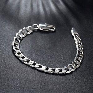 Das Bild wird geladen 925-Silber-8MM-Armband-Armkette -Panzerkette-Massiv-Herren- b8f70cabb1