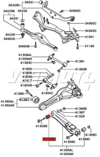 Superflex arrière inférieur latéral Lien Bras Bush Kit Pour Mitsubishi Lancer Evo 2 /& 3