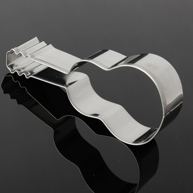 1PC Cute Guitar Shaped Stainless Steel Cookie Cutter Cake Baking Mold DIY NP5