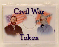 Civil War Generals - Token 2x3 Snap Lock Coin Holder, 3 Pack