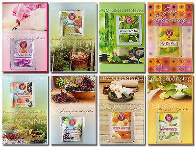 30 Geburtstagskarten Tee hochwertige Grußkarten Klappkarten Umschläge 510-3419
