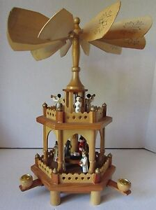 AlexanderTaron Richard Glaesser 2 Tier Nativity Scene Angel Musicians Pyramid
