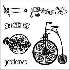 Motiv-Stempel-Auto-vintage-Bicyles-Fahrrad-Hochrad-ScrapBerrys-SCB4904016b