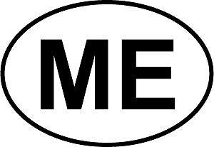 """Maine Euro Oval Bumper Sticker    2.5/"""""""