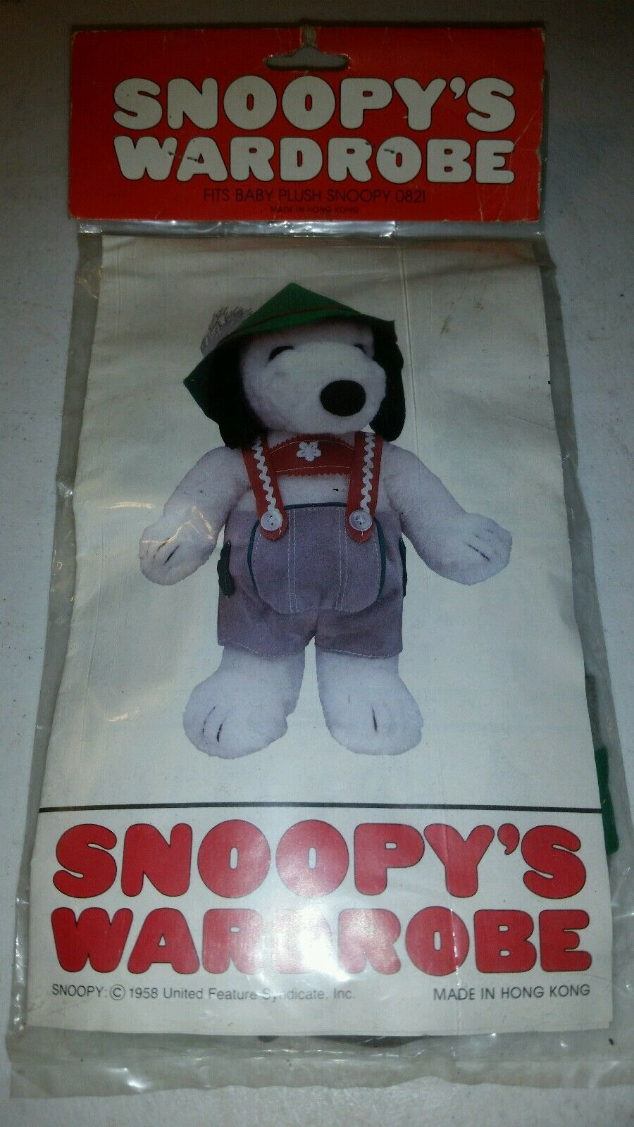 NIB Vintage Vintage Vintage Clothes for Snoopy Outfit for Small Baby Plush Snoopy Doll ca183b