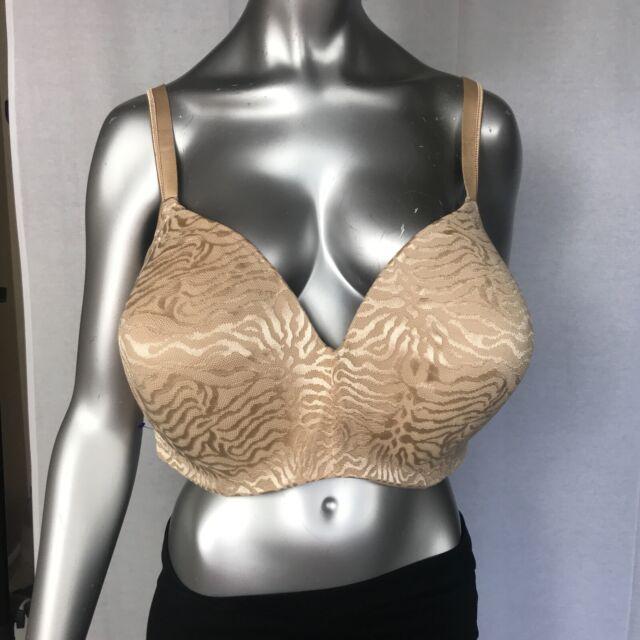 Playtex size 46DD Women's Secrets Body Revelations Underwire Bra Nude Jacquard