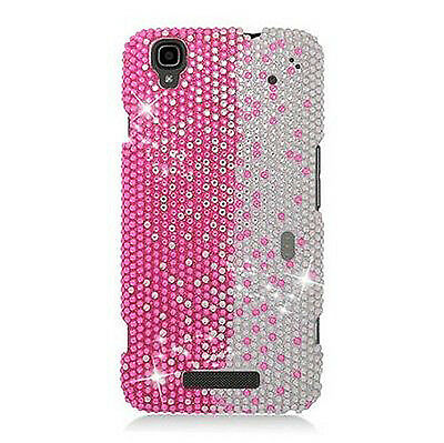 For Boost Mobile ZTE MAX N9520 Crystal Diamond BLING Case Snap On Phone Cover