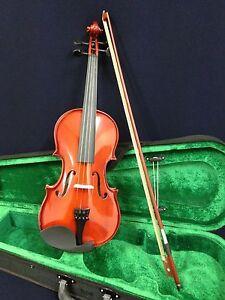 Caraya 1/8 Size Acoustic Violin w/Bow,Chin Rest,Rosin,Bridge,Foam Case-Full Set