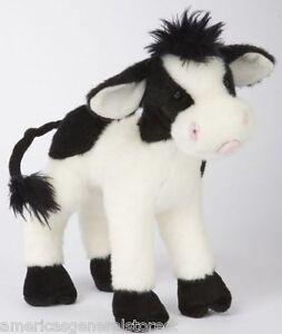 Sweet Cream Douglas 8 Tall Cow Stuffed Plush Animal Toy Black White