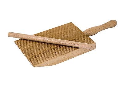 Professional Gnocchi/Garganelli Wood Paddle Slanted Ridge Board Pasta Maker