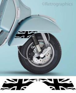 Details about Vespa PX Wavy Union Jack Mudguard Stickers Compatible 2 Vespa  PX & LML Scooters